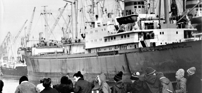 Schüler Im Seehafen 18. November 1970. Jürgen Sindermann 005713